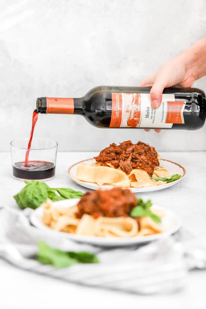 Red Wine Shredded Beef Ragu Pappardelle