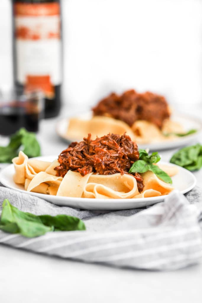 Red Wine Shredded Beef Ragu Pappardelle