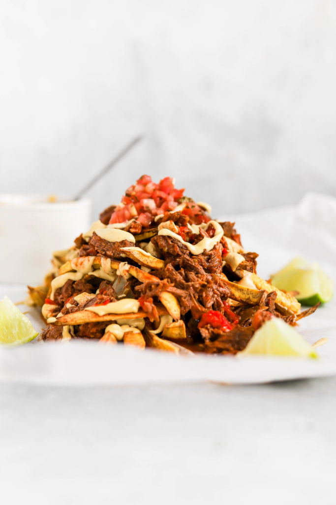Green Plantain Recipe : Loaded Fries