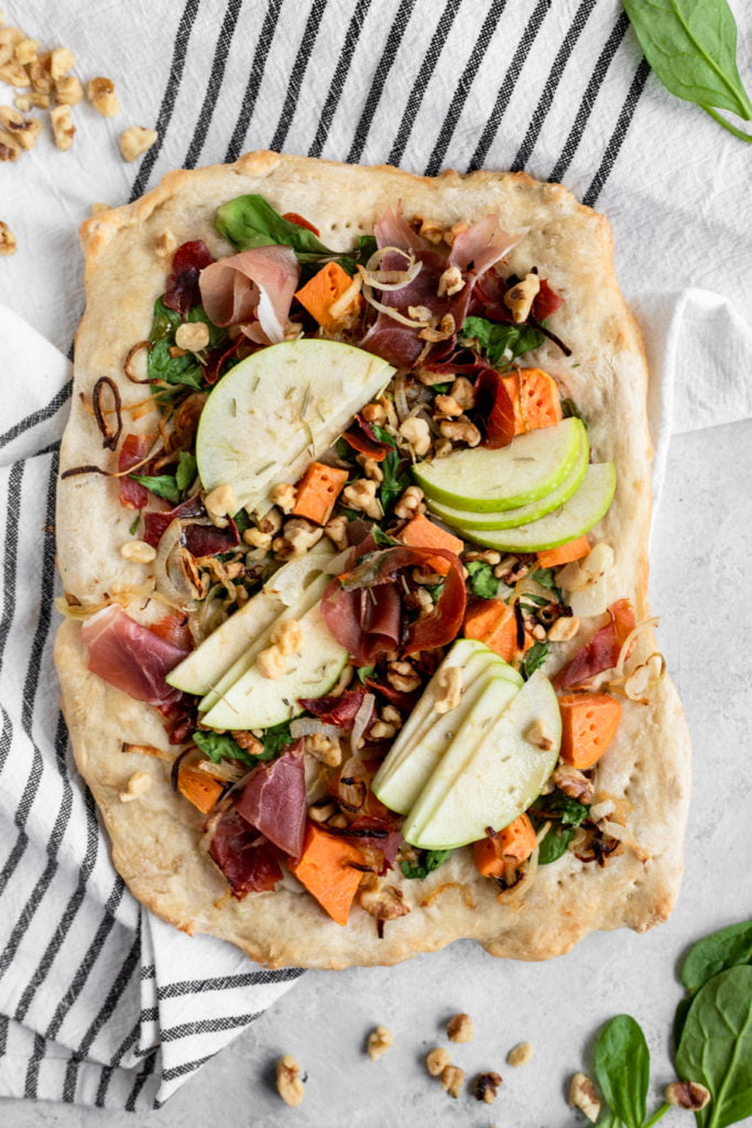 fall flatbread overhead shot