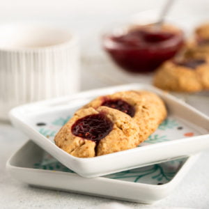 easy thumbprint cookie