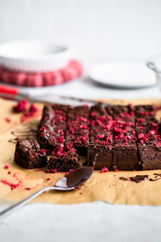 homemade raspberry brownie bites