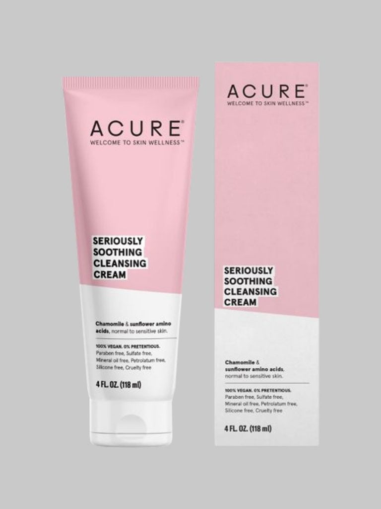 clean skincare acure cleansing cream