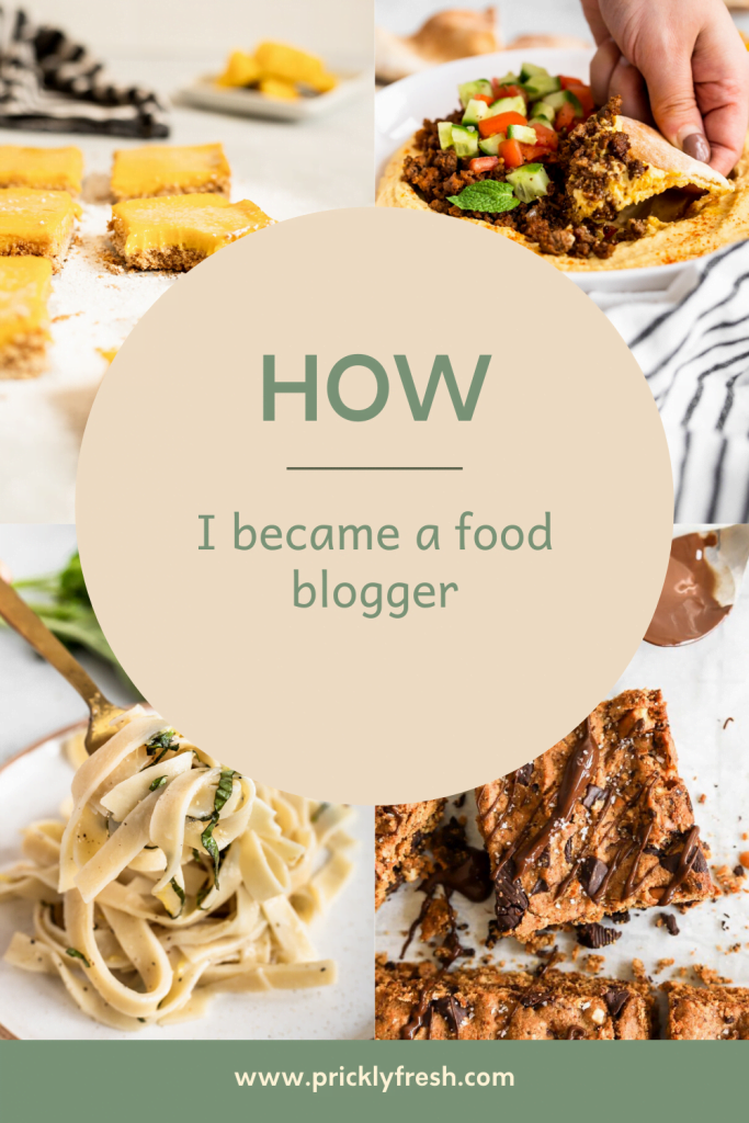 how i became a healthy food blogger graphic