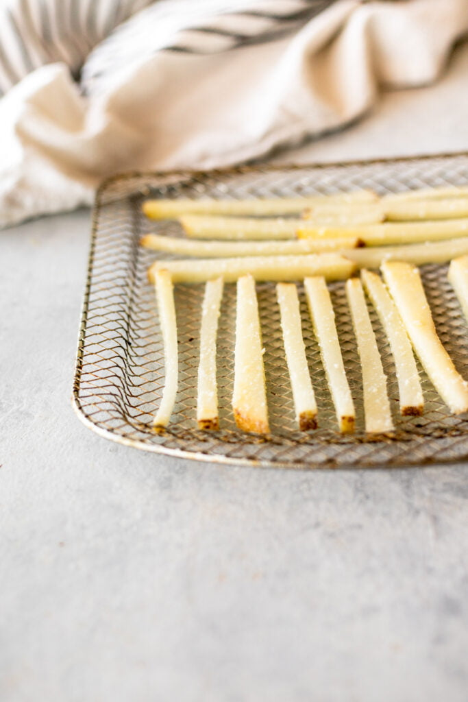 Air Fryer French Fries on Tray