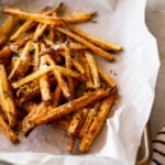crispy french fries close up