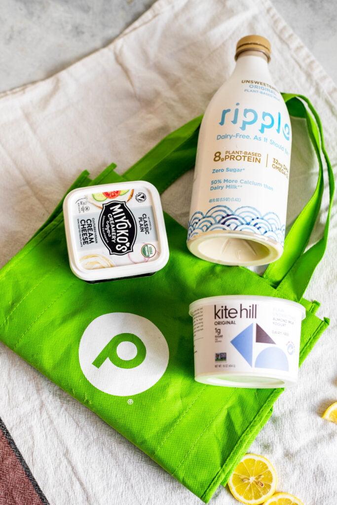 Lemon loaf ingredients on Publix bag